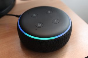 3rd gen. black Amazon echo dot speaker